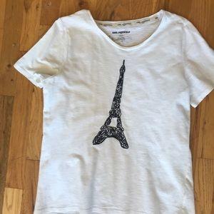 Karl Lagerfeld Paris Eiffel Tower tshirt